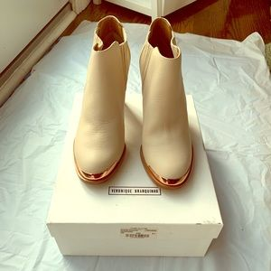 Veronique Branquinho booties with rose gold front